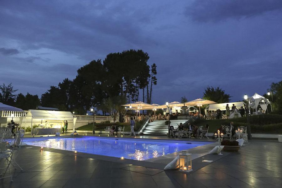 villa matrimonio Roma con piscina